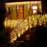 Warm White Curtain Lights Led 4M 100 Smd String Strip Ice Bar Lampchristmas Holiday Festival Wedding Intl In Stock