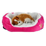 Who Sells Washable Cotton Puppy Bed Sofa House Mat For Pets Cat Rosered Color