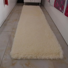 Washable Thickened Shaggy Mat Carpet Soft Solid Area Rug Anti-slip Carpets Fit for Living Room Bedroom Long Plush Door Floor Mat 50x160CM - intl