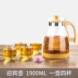 Best Water Of The Story Heat Resistant Explosion Proof Cold Water Pot Glass Kettle Cool Home 1900Ml Large Capacity Water Bottle Suit