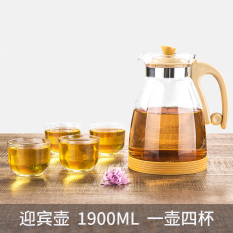 Water Of The Story Heat Resistant Explosion Proof Cold Water Pot Glass Kettle Cool Home 1900Ml Large Capacity Water Bottle Suit Compare Prices