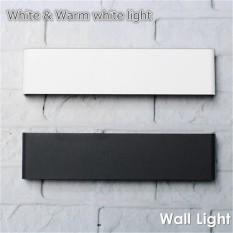 Waterproof 36cm 14W 70smd LED Mirror Light Wall Lamp Make Up Bathroom Stair Hallway Vanity Light Acrylic Night Lights Black Pure White - intl