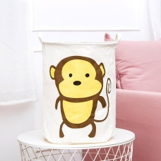 Waterproof Animal Canvas Sheets Laundry Clothes Basket Folding Storage Box B Intl Compare Prices