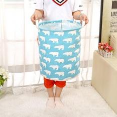 Waterproof Animal Canvas Sheets Laundry Clothes Basket Folding Storage Box - intl