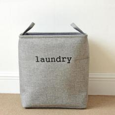 Purchase Waterproof Cotton Linen Laundry Baskets Foldable Dirty Clothes Storage Basket Durable Kids Toys Storage Bags Home Sundries Organzier 36X26X40 Cm Intl Online