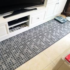 Waterproof entrance porous across the rug non-slip mat