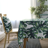 Coupon Nordic Broadleaf Turtle Bamboo Living Room Square Green Table Cloth