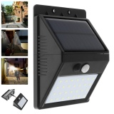 Review Waterproof Outdoor 28 Leds Solar Motion Sensor Separable Light With 3 Modes Support Security Night Lamp Intl Oem