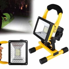 Waterproof Three Color LED Floodlight Portable Rechargeable Outdoor Work Light - intl