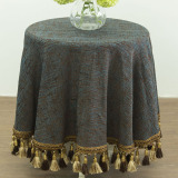 Buy Fabric Bedside Cabinet Cover Round Coffee Table Cloth Tablecloth Oem Online