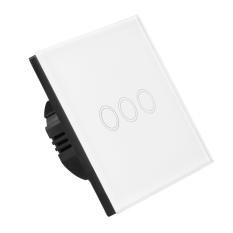 Sale White 3 Gang 1 Way Light Touch Switch Oem On China