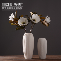 White Ceramic Vase Decoration HYUNDAI Creative Fashion Flower Arrangement Dry Flower Holder Table Living Room 58 Decorations