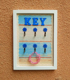White Entrance Key Holder Key Wall Hangers Adhesive Hook Online