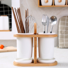 Price White Japanese Style Chopsticks Barrel Binoculars Drain Rack Chopsticks Tube Oem New