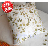 Cheapest European Style White Cotton Embroidered Cushion Case 65 65Cm