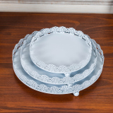 Buy White Paper Cups Cake Tray Rack Tall Fruit Plate Cake Dish Cheap On China