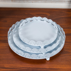 White Paper Cups Cake Tray Rack Tall Fruit Plate Cake Dish Lowest Price