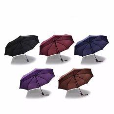 Price Wind Resistant Folding Automatic Umbrella Male Female Auto Luxury Big Windproof Umbrellas Rain For Mem Women Black Coating Blue Intl On China