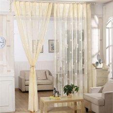 Best Deal Window Curtain Breathable Drape With Tree Pattern Hooks 2 Pcs 200 270Cm Intl
