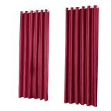 Discount Window Curtain Foam Lined Blackout Thermal Treatment Red Wine Oem On China