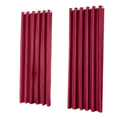 Promo Window Curtain Foam Lined Blackout Thermal Treatment Red Wine