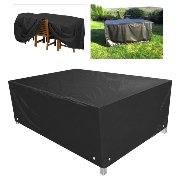 WINOMO 213*132*74CM Waterproof Dustproof Furniture Cover Case Tarpaulin (Black) - intl