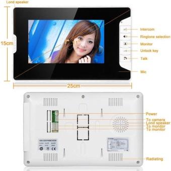 Wired 7\ Color Video Door Phone Doorbell Home Security IR Camera 2 Monitors