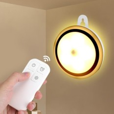 Wireless 5 LED Night Light Remote Control Lamp for Hallway Cabinet Closet #Rechargeable - intl