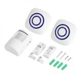 Price Wireless Infrared Sensor Motion Detector Entry Door Bell Alarm 2 Receiver 1 Transmitter Eu 3 Intl China