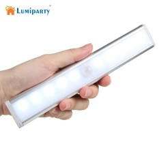 Wireless LED Night Light 10 LEDs Anto Motion Sensor Cabinet Light IR Infrared Induction Lamp Kitchen Stairs - intl