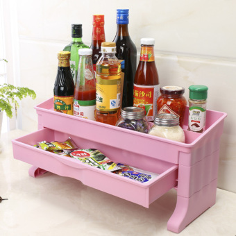 Kitchen Condiments Rack With 2 Drawers On Line