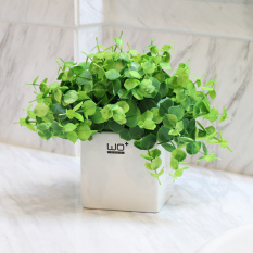 Wo Fake Grass Plant Clover Floral Artificial Flowers Lowest Price