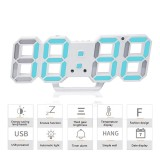 Review Womdee 3D Digital Alarm Clock 3 Adjustable Brightness Levels Led Wall Clock With Date And Temperature Display For Home Bedroom Office Intl On China