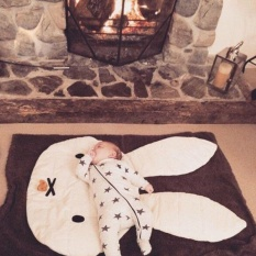 Wonderful Power High Quality Photo props Carpet Game rabbit blankets toddler crib Cover blanket floor mat Miffy Rabbit Crawling mats Ins bedding Room decor -Not Specified-Total length 106cm - intl