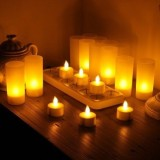 Buy Wonenice Rechargeable Tea Light Tealight Candles With Holders Set Of 12 No Batteries Necessary White Base Intl Oem Cheap