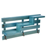 Wood Wall Mounted Shelf Holder Storage Rack Organizer Hanging Home Decor Blue Intl On Line