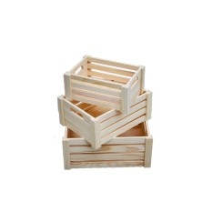 Buy Wooden Crate 3 In 1 Set Pinewood Cheap On Singapore