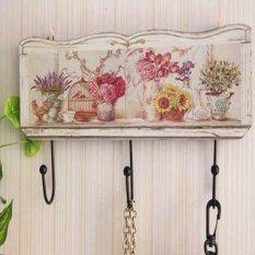 Recent Wooden Hook Hanger Vintage Clothes Robe Key Holder Hat Hanger Hooks For Bathroom Door Wall Home Decoration A 16X30Cm Intl