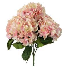 woowof Artificial Hydrangea Flower 5 Big Heads Bounquet Home Party Wedding Decor(Pink)
