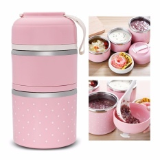 Cheaper Worthbuy Thermal Lunch Box Stainless Steel Food Container Intl