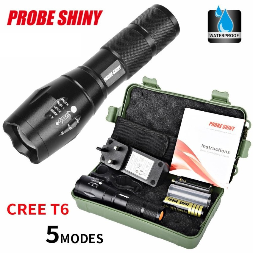 Brand New X800 Zoomable Xml T6 Led Tactical Flashlight 18650 Intl
