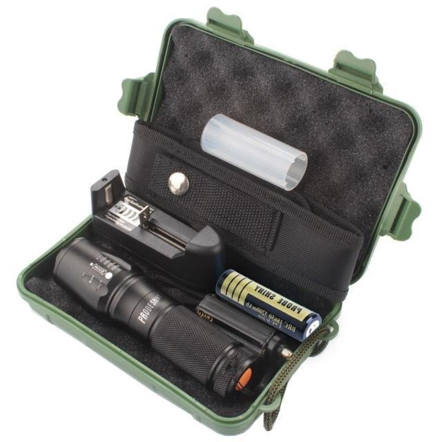 Buying X800 Zoomable Xml T6 Led Tactical Police Flashlight 18650 Case Intl