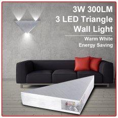 Review Xcsource 3W Ac85 265V Triangle Led Wall Light Warm White Xcsource