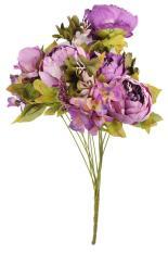 xinfu 1 Bouquet Artificial Peony Silk Flowers Home Wedding Decoration,Purple