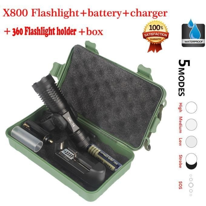 Price Xm L T6 Led Tactical Zoomable Flashlight Torch Light Lamp 18650 Charger Silver Intl Fashiondoor Original