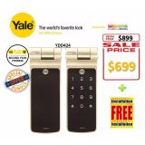 Discount Yale Digital Biometric Tubular Deadbold Lock Ydd424 Yale