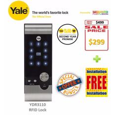 Buy Yale Hi Tech Rf Card Digital Door Lock Rim Lock Ydr 3110