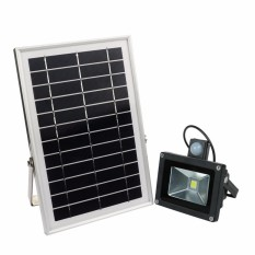 Y&H 10W Solar Motion Sensor Flood Light 1000LM Outdoor Waterproof Street Lights Emergency Security High Integrated Spot Light Lamp White - intl