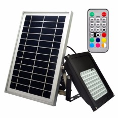 Y&H 56 LEDs Solar Flood Light,50W Colour Changing LED Outdoor Security Floodlight, IP65 Waterproof, Remote Control, Dimmable, Auto-induction, for Decking Lighting, Patio Lighting - intl