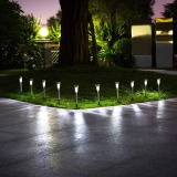 Shop For Ybc 10Pcs Solar Powered Path Led Light Stainless Steel Lamp For Yard Garden Intl